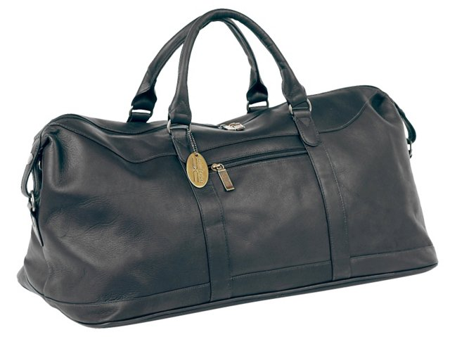 Leather All-American Duffel, Black