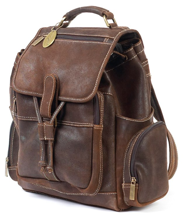 Uptown Backpack, Distress Brown
