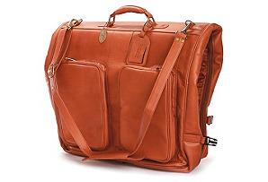 Leather Garment Bag, Saddle