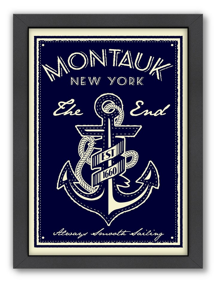 Montauk Anchor Travel Poster