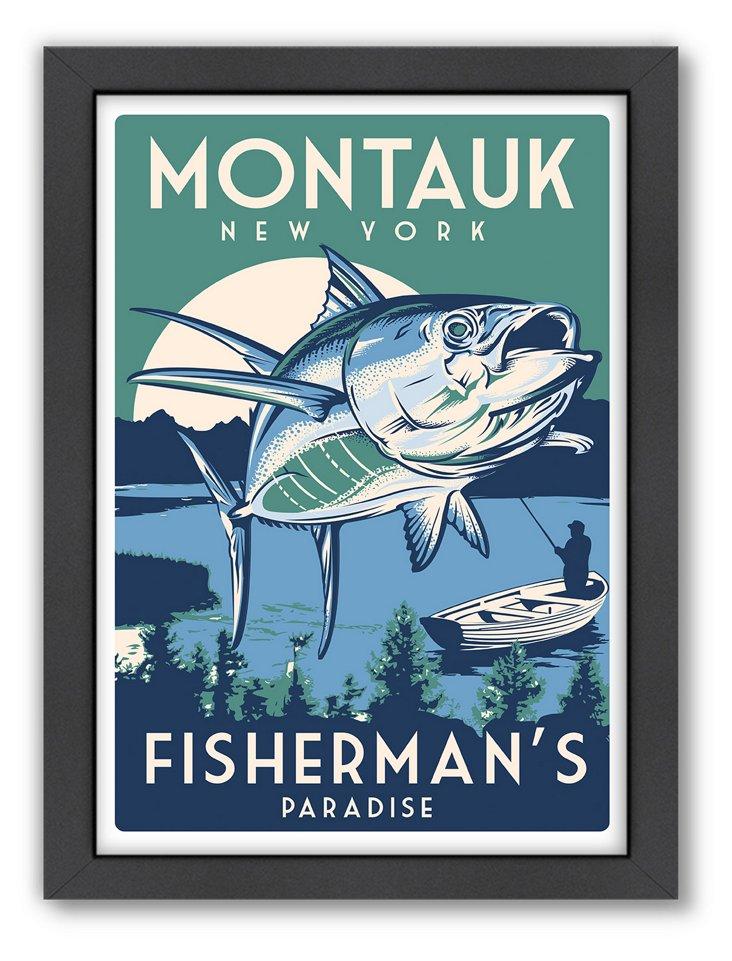 Montauk Fish Travel Poster