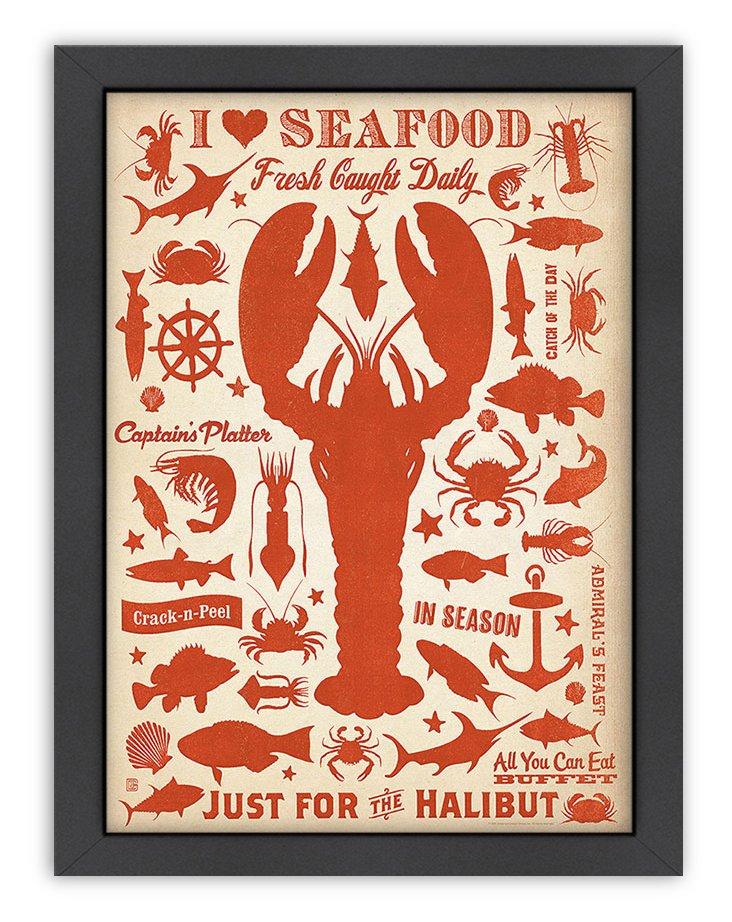 CC Lobster Pattern Print