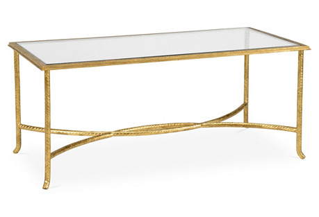 Clifford Coffee Table, Gold