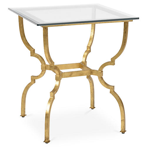 Sumner Side Table, Gold