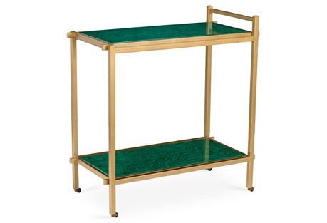 Georgia Bar Cart, Emerald