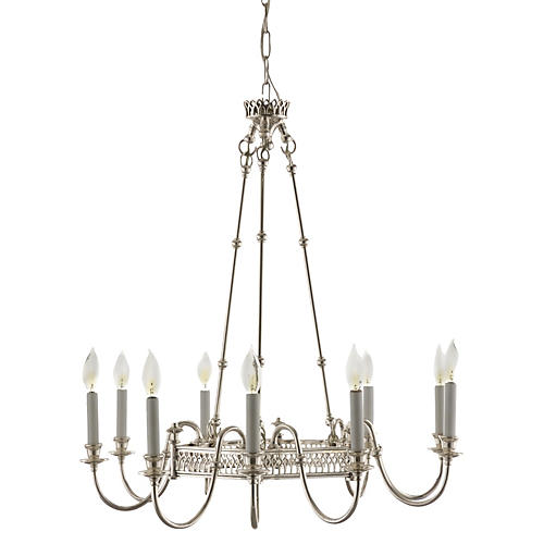 Manning 9-Light Chandelier, Chrome
