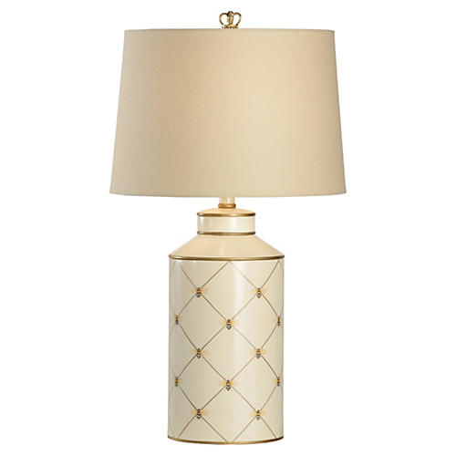 Queen Bee Lamp, White/Gold
