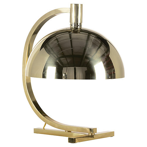 French Desk Lamp, Polished Brass