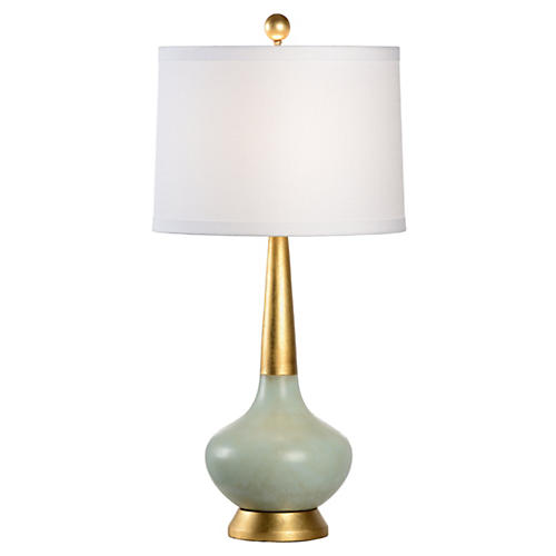 Eden Lamp, Antiqued Celadon