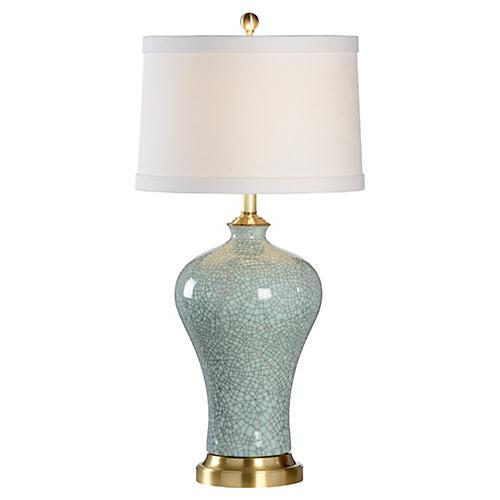 Viceroy Porcelain Crackle Lamp, Blue