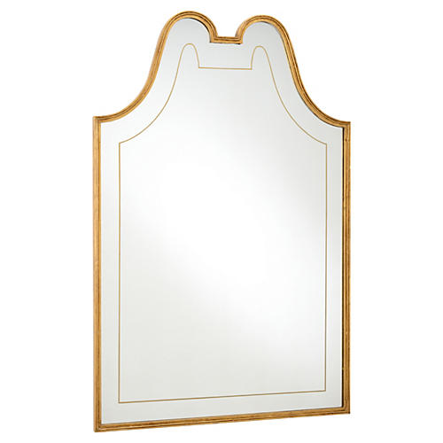 """36""""x54"""" Victorian Mirror, Gold"""
