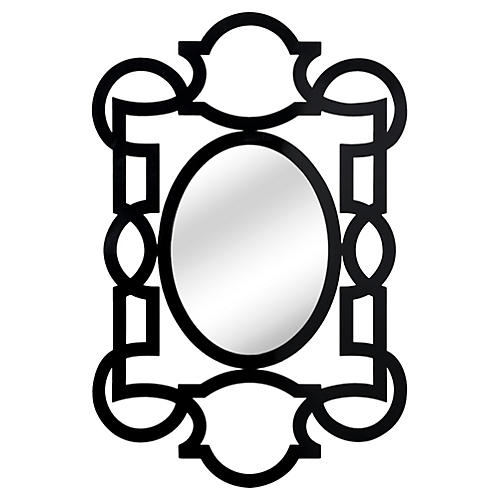 "Tracery 40""x59"" Wall Mirror, Black"