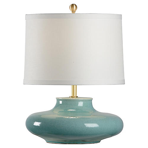 Gainsboro Porcelain Table Lamp, Celadon