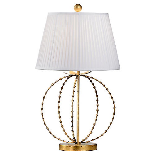 Hillsoboro Table Lamp, Blackened Gold