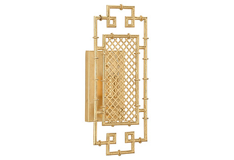 Benton Geometric Sconce, Gold