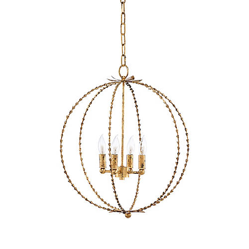 Hillsboro 4-Light Chandelier, Gold
