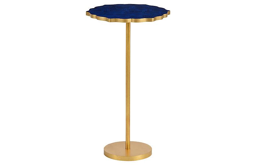 Lapis Side Table, Blue