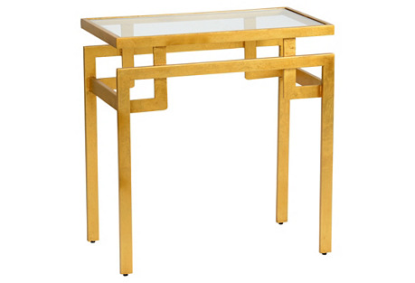 Hollander Side Table, Gold Leaf