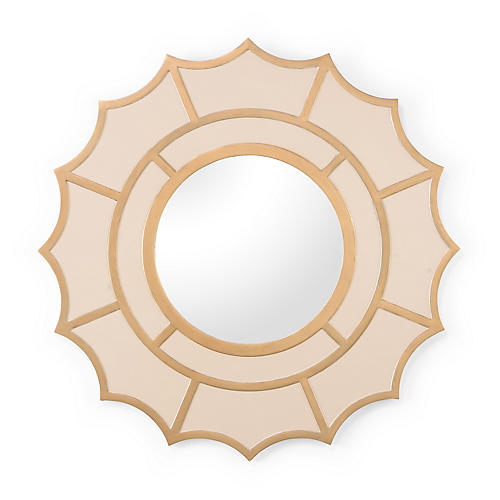 "Devonshire 40"" Wall Mirror, Cream/Gold"