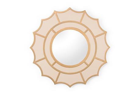 Devonshire Wall Mirror, Cream/Gold