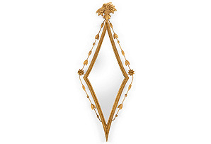 Diamond Wall Mirror, Old Gold*
