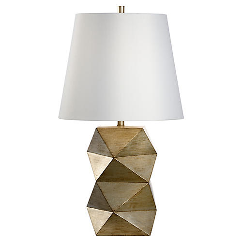 Wilson Table Lamp, Antiqued Silver