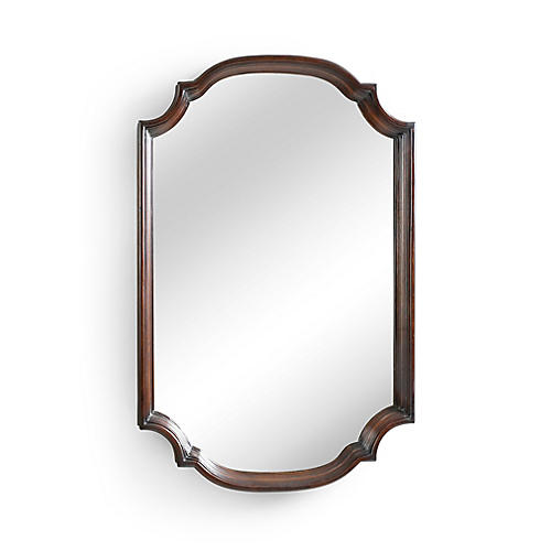 "Marvin 24""x38"" Wall Mirror, Brown"