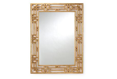 Pierced Wall Mirror, Gold
