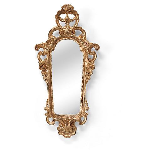 Firenze Wall Mirror Sconce, Gold