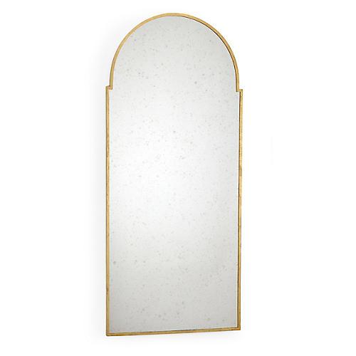 Baker Street Oversize Wall Mirror, Gold
