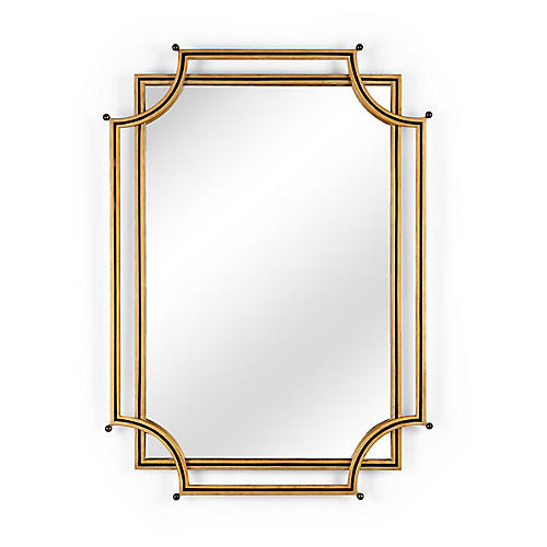 London Church Wall Mirror, Gold