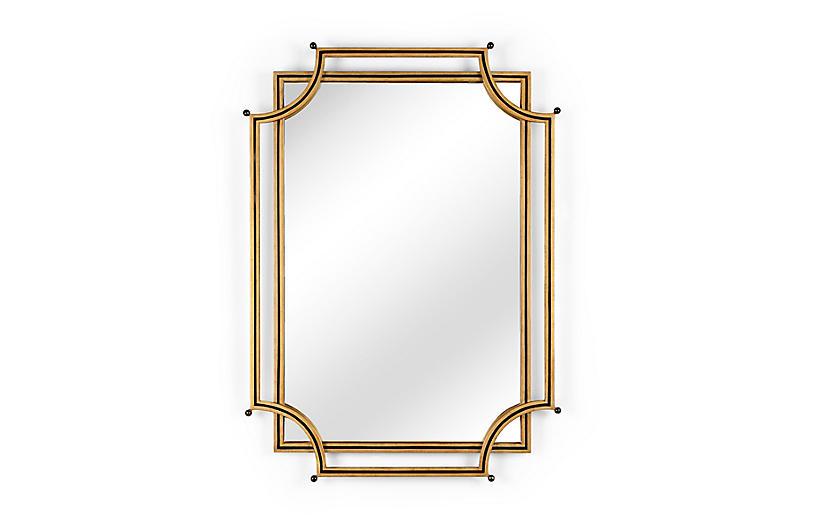 London Church Wall Mirror, Gold