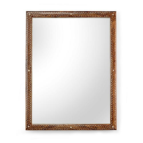 Henry Oversize Wall Mirror, Natural