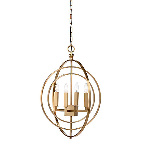 Underhill 4-Light Chandelier, Brass