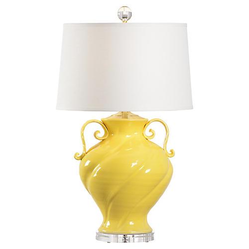 Verona Table Lamp, Honey Yellow
