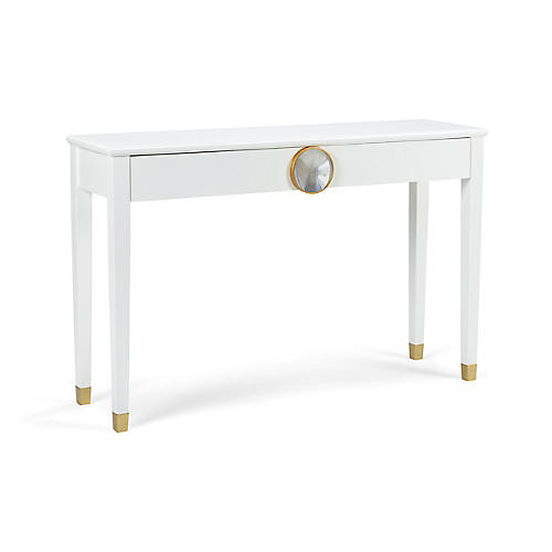 Hope House Console, White/Gold Leaf