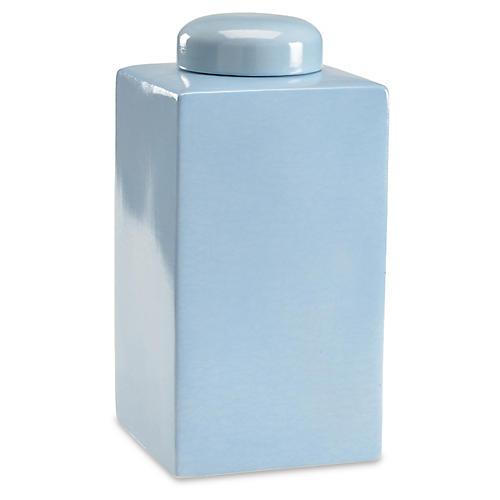 "16"" Gossamer Tea Jar, Blue"