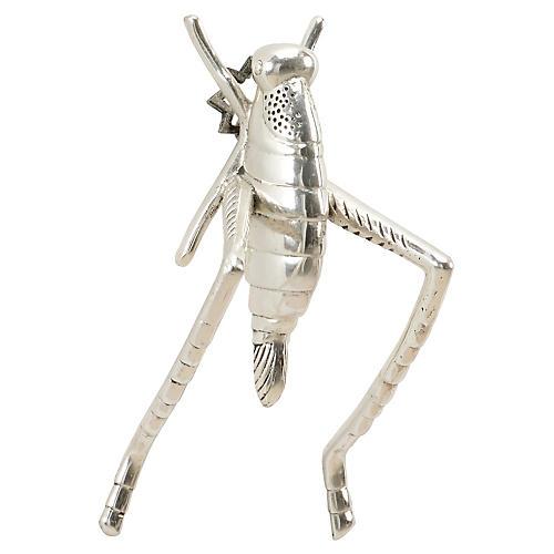 "5"" Grasshopper Figure, Antiqued Silver"