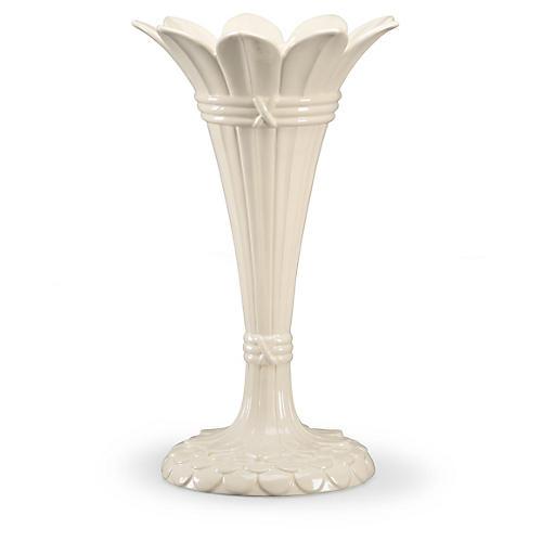 """18"""" Tulip Vase, White"""