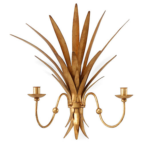 Wheat 2-Light Sconce, Gold