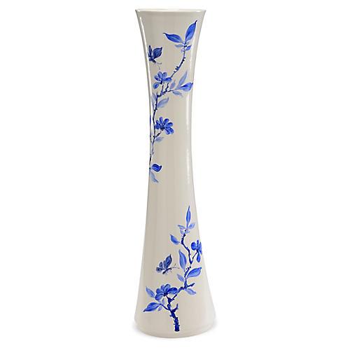 """31"""" Colson Vase, Blue/White"""