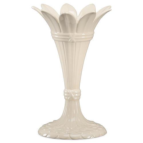 """12"""" Tulip Vase, White"""