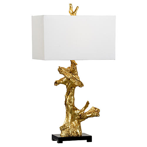 Branch Table Lamp, Gold/Black