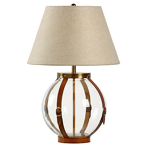 Sierra Table Lamp, Clear/Chestnut