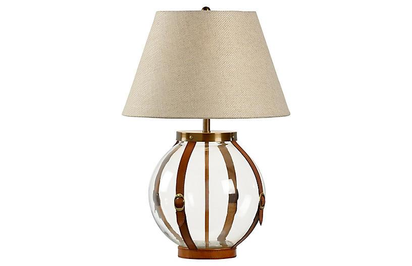 Sierra Table Lamp, Clear/Chestnut