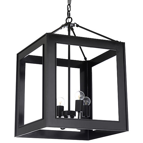 Stowe Chandelier, Black