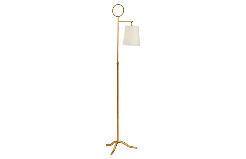 Charlotte Floor Lamp, Antiqued Gold