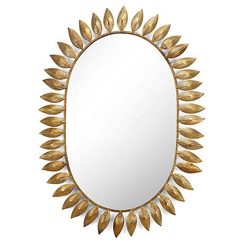 Victoria Wall Mirror, Gold Leaf