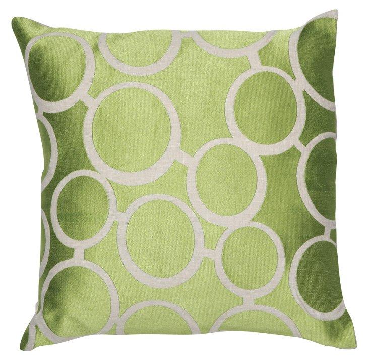 Spectacles 20x20 Pillow, Green