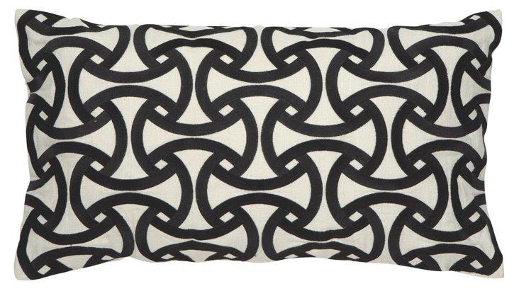 Santorini 14x26 Pillow, Black